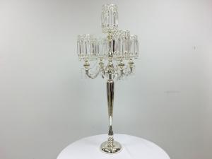 Silver 46 Crystal Candelabra