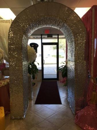 Silver Sequin Arch