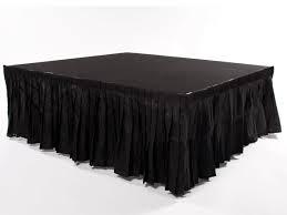 Black 10 ft Stage Skirt