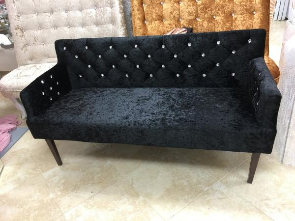 Double Black Velvet Chair