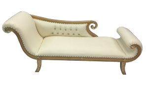 Gold and Cream Chaise