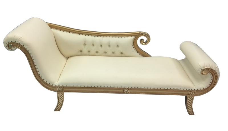 Wedding event chairs crystal floral gold and cream chaise junglespirit Choice Image