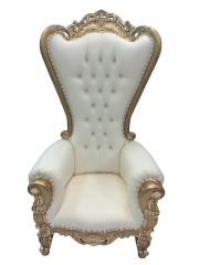 Gold and Cream Throne Chair