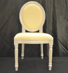 Louie White and Silver Chair