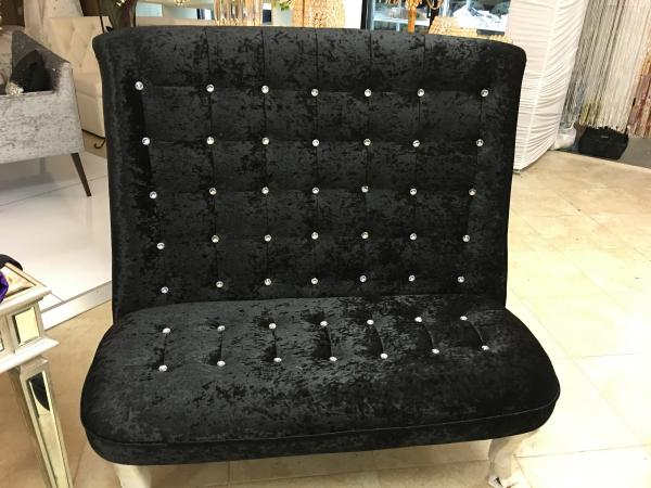 Black Velvet Chair