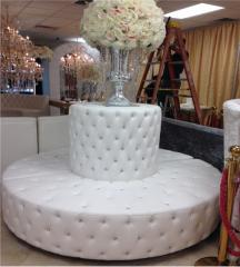 Round Booth with Bling Diamond