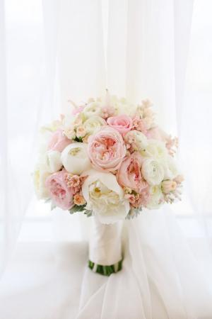 Peony Spray Roses and Garden Roses Bridal Bouquet