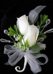 White Roses Boutonniere