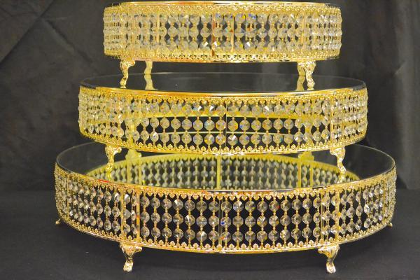 Gold 22 Round Cake Stand