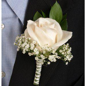 White Rose and BB Boutonniere
