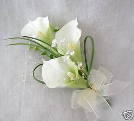 White Mini Calla Lilly Corsage