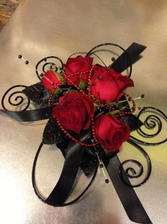 Red Spray Roses Corsage