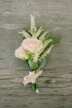 Pink Roses Boutonniere