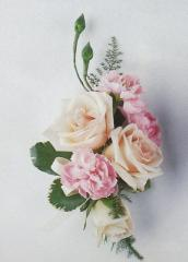 Pink Mini Carnation and Pink Spray Roses Corsage