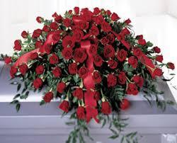 All Red Roses Casket Spray