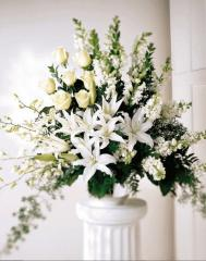 All White Alter Arrangement