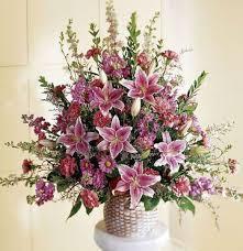 Pink and Lavender Funeral Basket