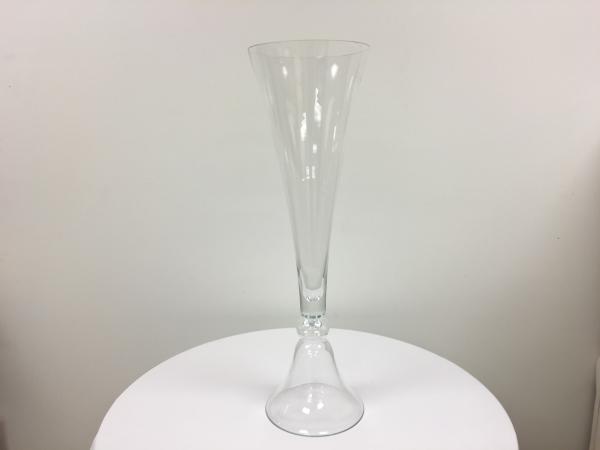 Clear 36 Trumpet Vase