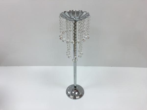 Silver Flower Stand with Dangles