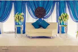 Blue Draping Backdrop