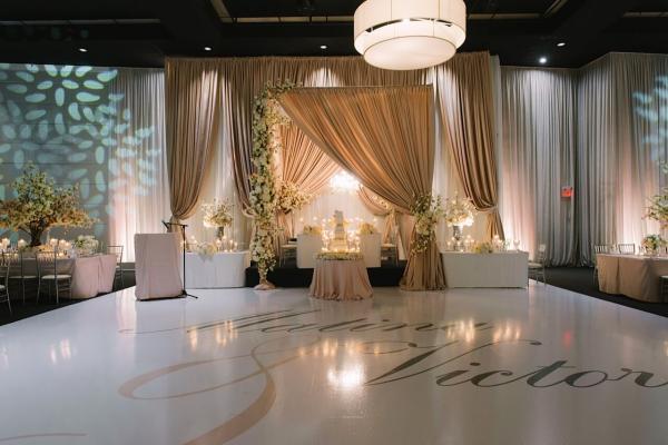 Cream Canopy Backdrop