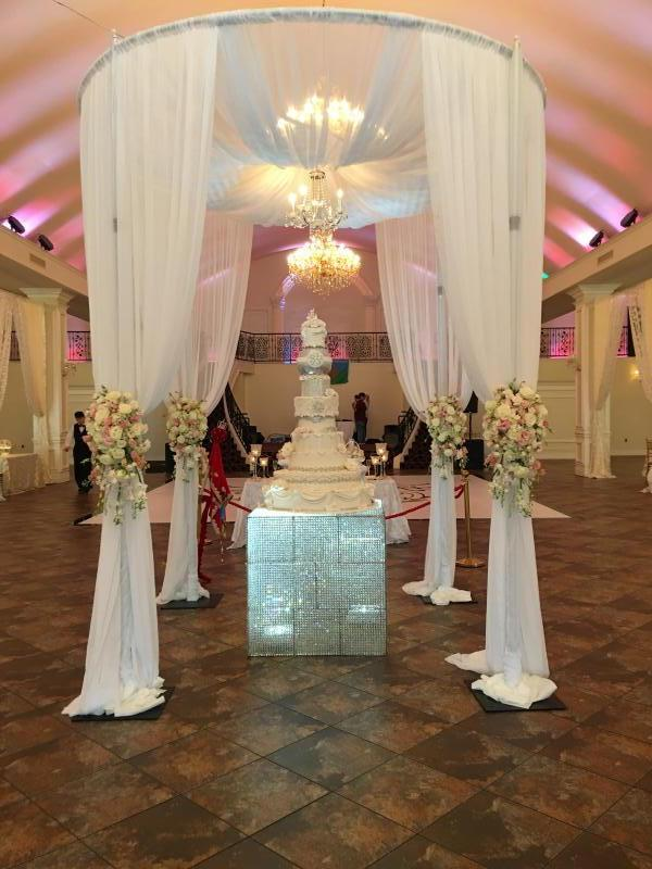 Round White Canopy with Fresh Hanging Flowers & Tent Chuppah Canopy and Mandap u2013 Crystal Floral