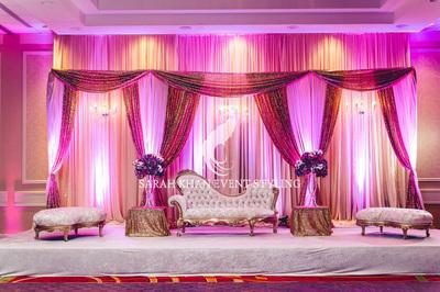 Pink Canopy 12\'x20\' Backdrop