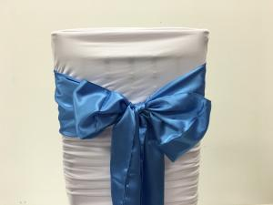 Blue Satin Chair Sash