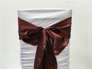 Brown Satin Chair Sash
