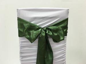 Emerald Green Satin Chair Sash