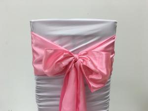 Pink Satin Chair Sash