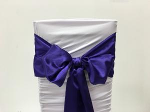 Purple Satin Chair Sash