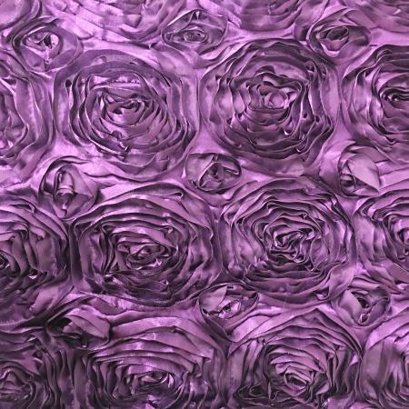 Purple Rosette Table Linen