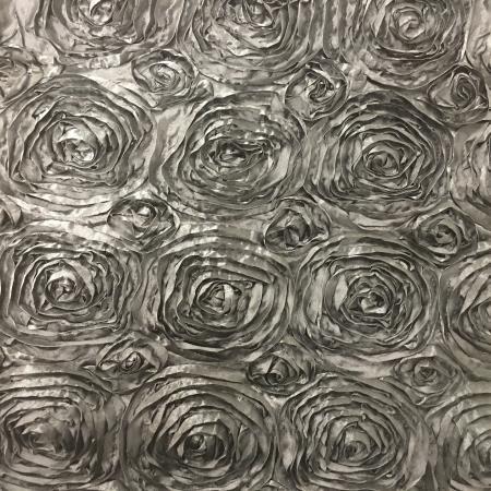 Black 132 Rosette Table Linen