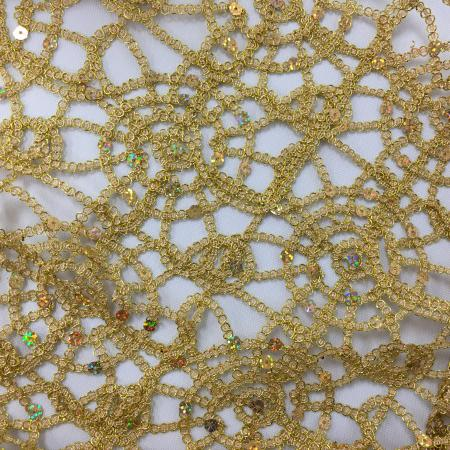 Gold 132 Spider Web Table Linen