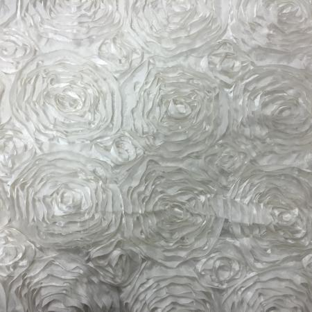 Ivory 132 Rosette Table Linen