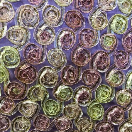 Lavender and Pink 132 Small Rosette Table Linen