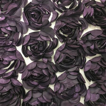 Purple 132 Rosette Net Table Linen