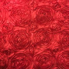 Red 132 Rosette Table Linen