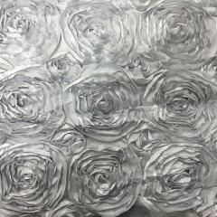 Silver 132 Rosette Table Linen