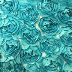 Turquoise 132 Rosette Net Table Linen
