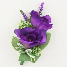 Purple Roses Pin Corsage