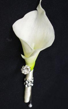 Calla Lilly with Rhine Stone