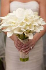 White Calla Lilly Bridal Bouquet