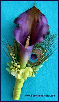 Calla Lilly and Phala Orchid Boutonniere