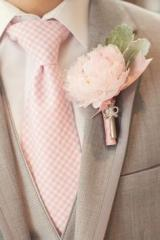 Peonies Boutonniere