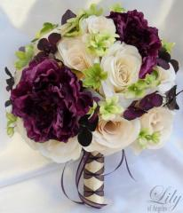 Roses , Freesia, and Magnolia Bouquet