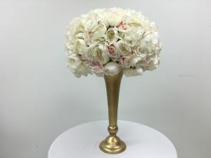 White and Pink Flower Ball