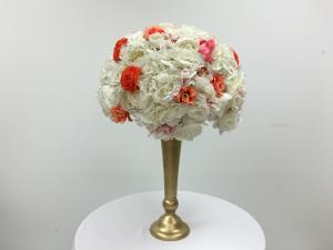 White and Coral Flower Ball