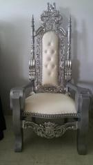Silver Lion King Chair